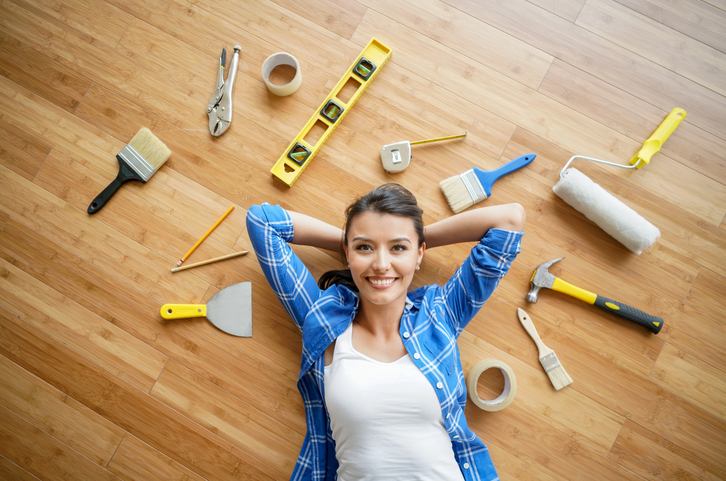 Image result for woman home improvement project